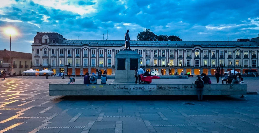 Plaza de Bolivar at Dusk