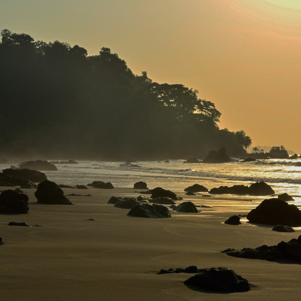 Colombia Nuqui pacific coast sunset