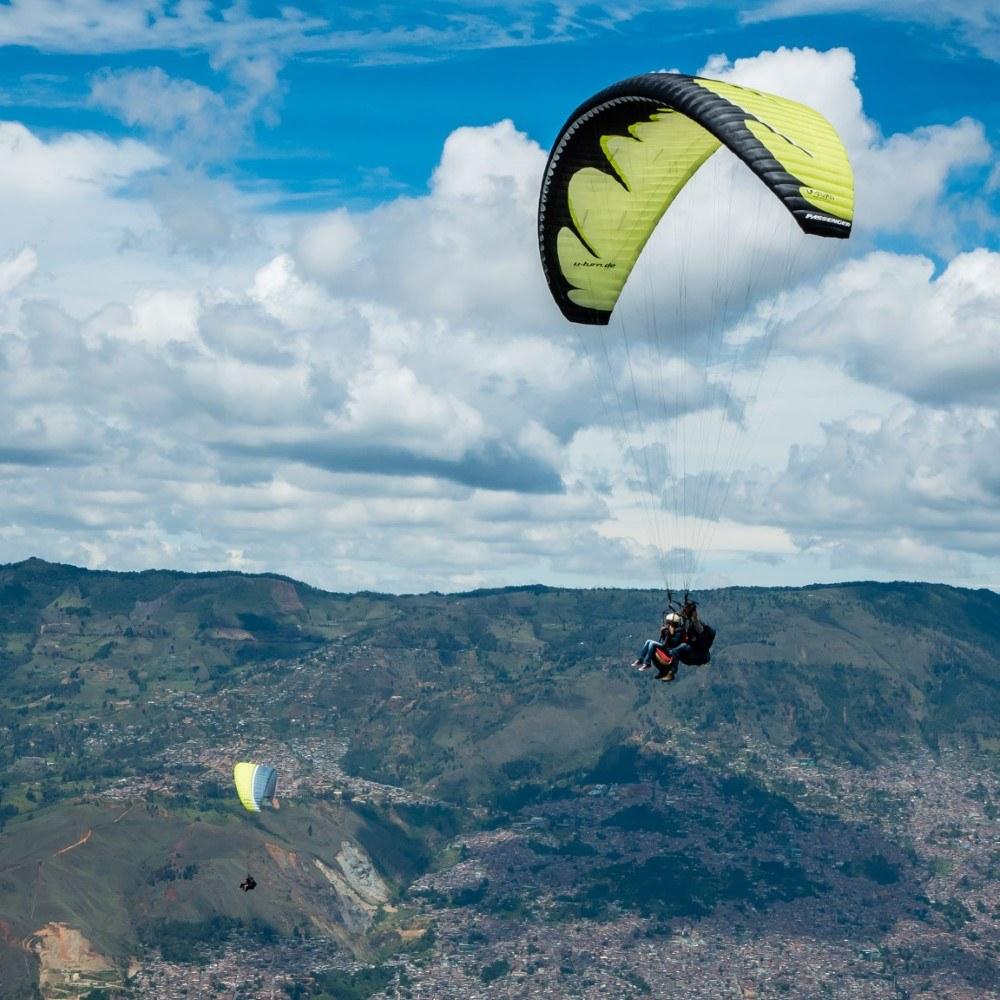Paragliding above Medellin